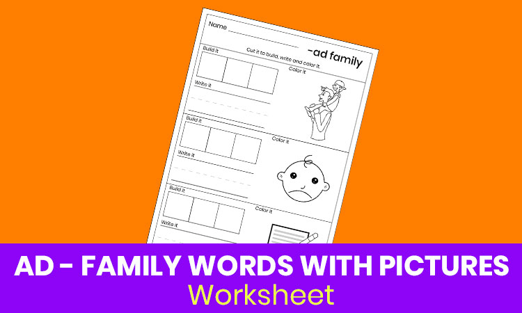 AD family words with pictures