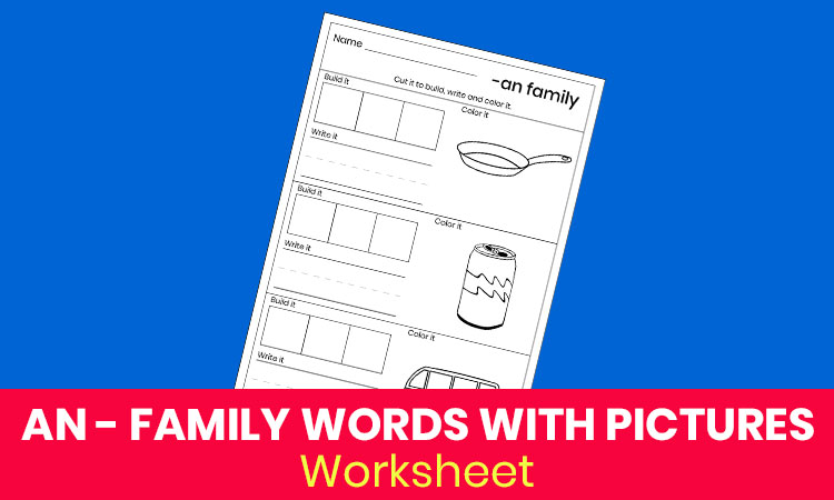 AN family words with pictures