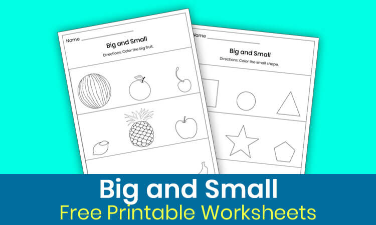 Big and small worksheets for preschool