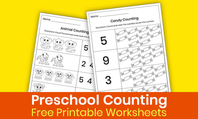 Counting worksheets for preschool