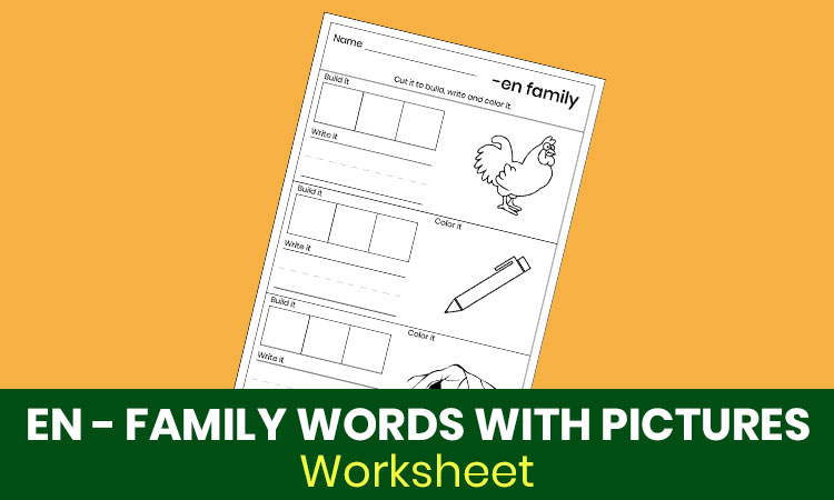 EN family words with pictures