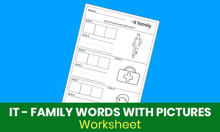 IT family words with pictures