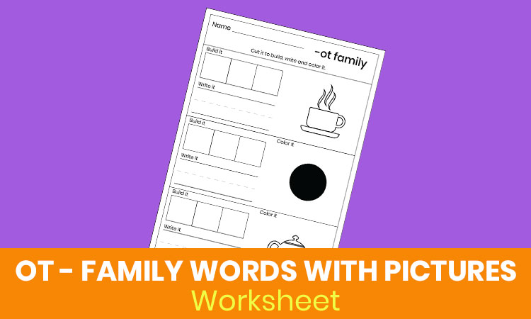 OT family words with pictures