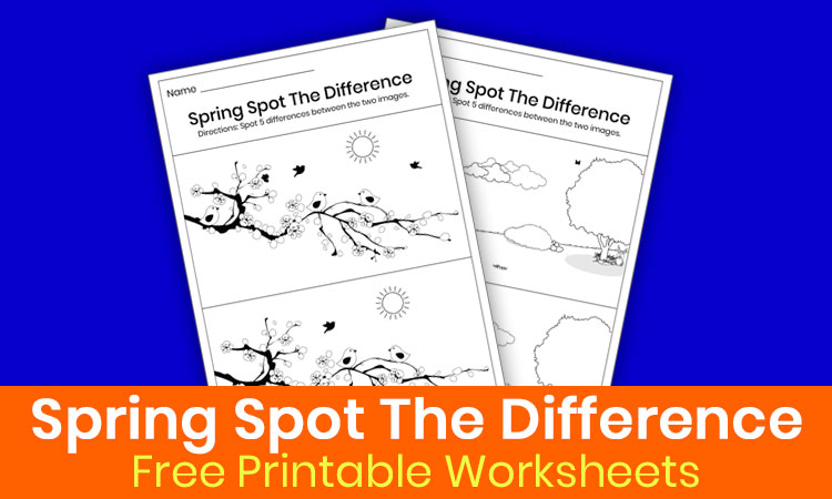 Spring spot the difference printable