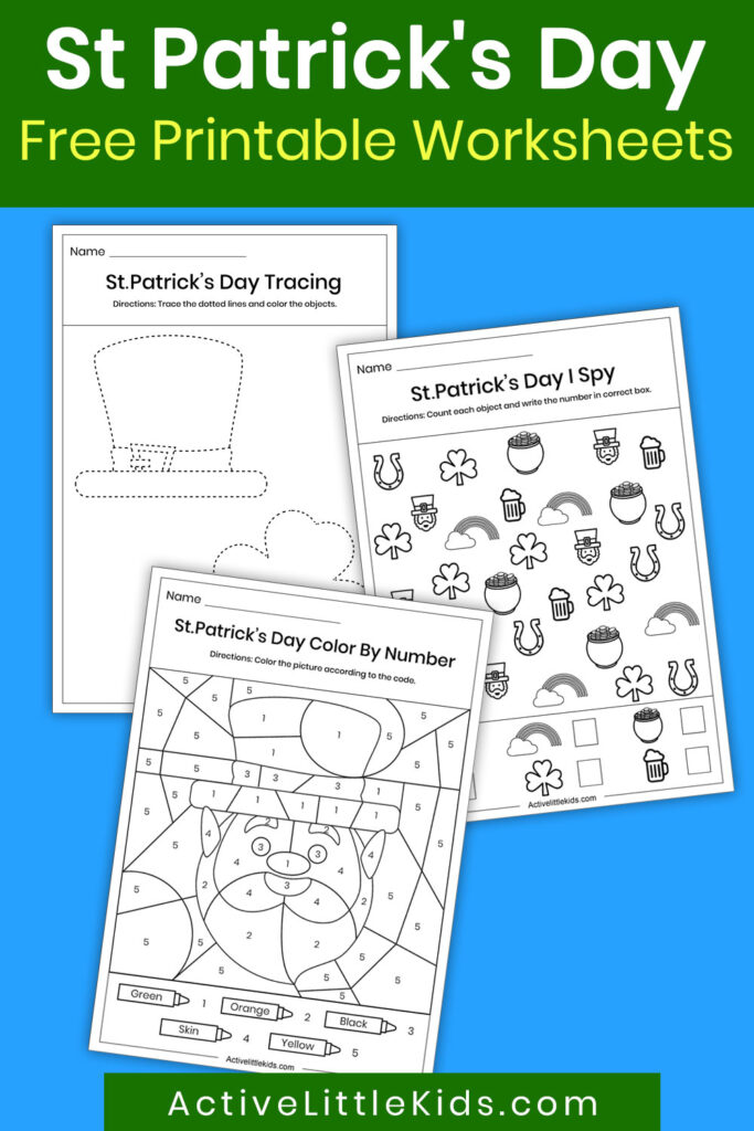 St Patrick's day worksheets pin