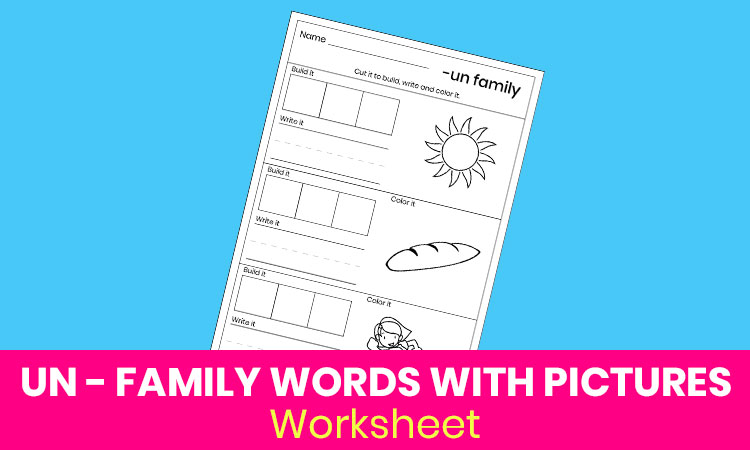 UN family words with pictures