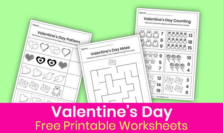 Free Valentine S Day Worksheets For Kindergarten Active Little Kids - 22+ Valentine Worksheets For Kindergarten Free Background